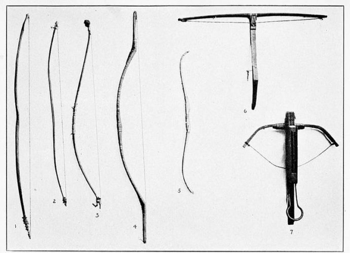 Bowstrings used on bow and arrows and crossbows traditionally were made of animal tendons.  raw meat.
