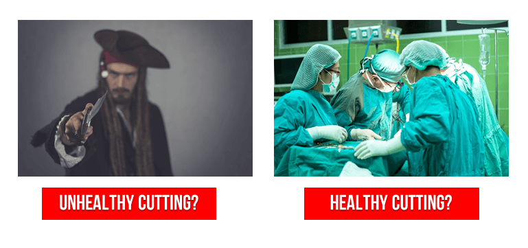healthy cutting unhealthy cutting? history of cancer surgery