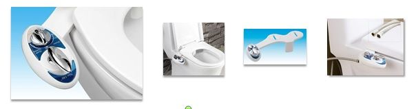inline bidet instead of toilet paper