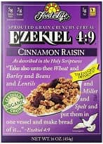 Organic Sprouted Grain Cereal – Cinnamon Raisin