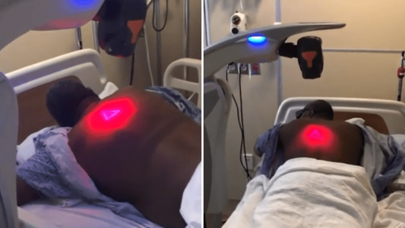 African american man healed of covid using red light therapy