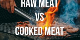 raw meat vs cooked meat